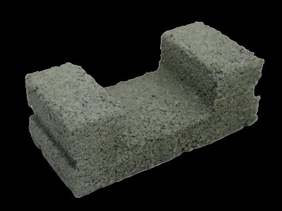 190x90x70mm U-Shape Cement Brick