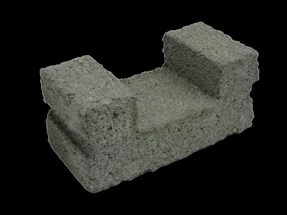 190x90x90mm U-Shape Cement Brick
